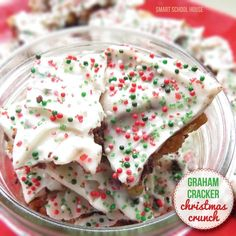 Graham Cracker Crunch- a Christmas crunch recipe that you can't put down! It melts in your mouth and leaves you wanting more and more.