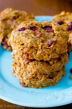 Healthy Breakfast Cookies! Get the simple recipe at sallysbakingaddiction.com-2
