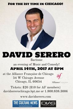 David Serero performs at the Alliance Francaise of Chicago on April 14th 2017.