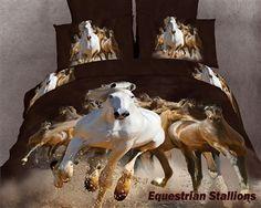 2014 Modern bedding sets cotton Printed the bed linen queen size duvet cover bedclothes Horse Themed Bedrooms, Bedroom Themes, Horse Bedrooms, Bedroom Ideas, Bedroom Stuff, Bedroom Girls, Bedroom Bed, Bedroom Inspiration, 3d Bedding Sets