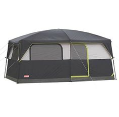 I just used this last weekend  COLEMAN Prairie Breeze 9 Person WeatherTec Camping Tent w/Fan & Light | 14 x 10′ follow this link click here http://bridgerguide.com/coleman-prairie-breeze-9-person-weathertec-camping-tent-wfan-light-14-x-10/ for much more detail about it. Thanks and please repin if you like it. :)