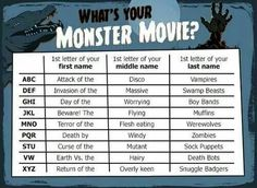 Funny pictures about Your monster movie. Oh, and cool pics about Your monster movie. Also, Your monster movie. New Names, First Names, Bingo, Funny Name Generator, You Monster, Monster Movie, Corgi Names, Birthday Scenario, Name Games