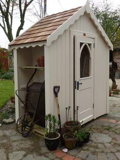 Outdoor Garden Sheds, Backyard Sheds, Backyard Landscaping, Garden Buildings, Garden Structures, Traditional Sheds, Posh Sheds, Garden Tool Storage, Small Garden Tool Shed