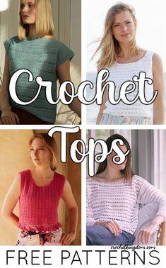 Crochet Summer Tops, Crochet For Kids, Easy Crochet, Free Crochet, Crochet Tank, Crochet Cardigan, Knit Crochet, Crochet Christmas Ornaments, Summer Sweaters