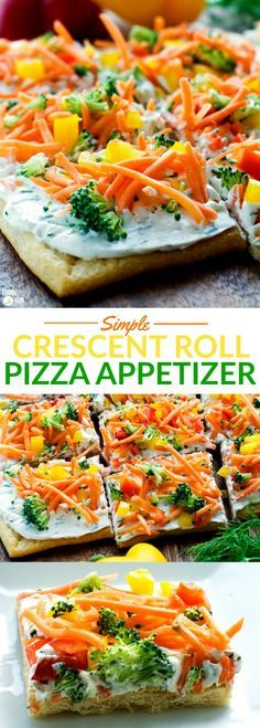 This Simple Crescent Roll Pizza Appetizer recipe is easy to make and always a hit at parties! You ca This Simple Crescent Roll Pizza Appetizer recipe is easy to make and always a hit at parties! Appetizers For A Crowd, Healthy Appetizers, Appetizer Dips, Appetizer Recipes, Party Appetizers, Avacado Appetizers, Prociutto Appetizers, Mexican Appetizers, Halloween Appetizers