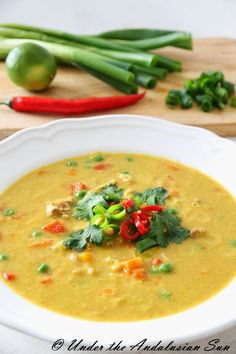 Chicken and corn soup - bowlful of sunshine to ward off the autumn blues