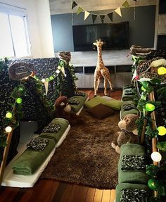 """Festa do pijama linda para menino por @lovelytents!   #kikidsparty"""""""
