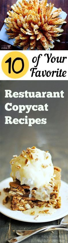 10 of Your Favorite Restuarant Copycat Recipes