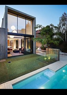 Best Ideas For Modern House Design & Architecture : – Picture : – Description Australian architects Workroom Design collaborated with Agushi Builders to create Oban House, an urban house in South Yarra near Melbourne, Australia. Design Exterior, Interior And Exterior, Residential Architecture, Interior Architecture, Moderne Pools, Modern Properties, Australian Homes, Modern House Design, Loft Design