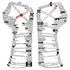 CM Punk Typography shirt