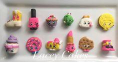 Shopkin fondant cupcake toppers