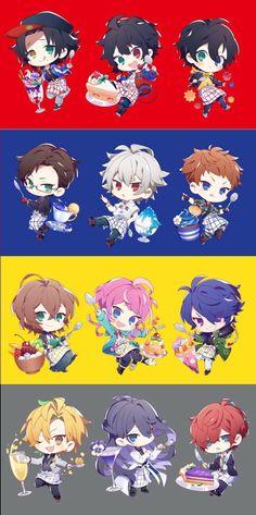 ヒプマイ Kawaii Chibi, Cute Chibi, Anime Chibi, Kawaii Anime, Kawaii Drawings, Cute Drawings, Anime Boy Hair, Chibi Hair, Rap Battle