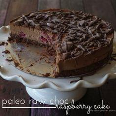 Paleo Recipes | Paleo Raw Choc Raspberry Cake