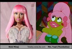 I finally understand nicki minaj's look! It's a spitting image