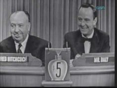 What's My Line is one of the early, classic, game shows.  This one has Alfred Hitchcock as guest, you can see more on YouTube.