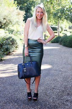 Metalic midi skirt http://www.mediamarmalade.com/