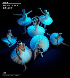 "Advertising poster ""Swan Lake"" at Het Nationale Ballet (The Dutch National Ballet)"