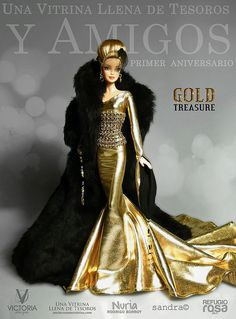 Gold Treasure Collection Barbie Doll by Refugio Rosa 2014