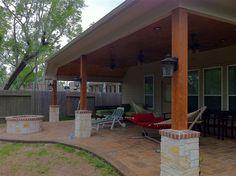 Back Patio,wood ceilings Back Patio, Backyard Patio, Porch Ideas, Patio Ideas, Outdoor Ideas, Backyard Ideas, Outdoor Spaces, Outdoor Living, Gazebo On Deck
