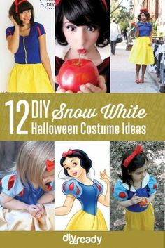 DIY Snow White Costume Ideas for Halloween | Cute Costumes And Makeup Tutorials For Girls by DIY ready at http://diyready.com/12-diy-snow-white-costume-ideas-for-halloween/