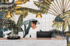 karina eibatova tiles a magical jungle within casa cook hotel in greece