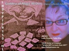 """Believe and it IS so.... Tetka xox  Goddess of Magic Wishes: Original Collectors Contemporary tetkaART  ARTIST: Lady Picasso Tetka Rhu YOUR Artist of Creation """"where ART is more than ART"""" http://ladypicasso.me/  #tetka   #arts   #artist   #goddess  #magicwishes   #innerchild"""