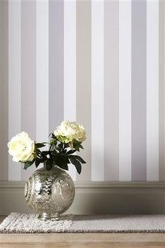 Banded Stripe Natural Wallpaper - NEXT, £15