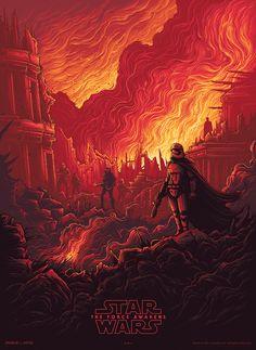 Tribute to Star Wars: The Force Awakens by artist Dan Mumford.