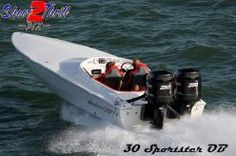 2012 30' Phantom Racing Super V Sportster Outboard www.EdwardsYachtSales.com
