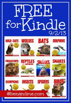 Free for #Kindle -- 12 Animal Books! #homeschool #KindleFreebies