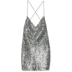 Pewter Mirror Sequin Tank Dress ($1,600) ❤ liked on Polyvore featuring dresses, tops, vestidos, shirts, tank top dress, sequin cocktail dresses, sequin embellished dress, sequin dress and marc jacobs dresses