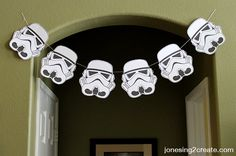 Clone Trooper Garland Makes For A Great Decoration And Target Practice Star Wars Birthday Party