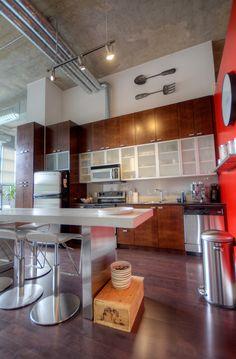 Concrete Column, Concrete Ceiling, Toronto Lofts, High Windows, Art Deco Buildings, Wide Plank, Window Wall, Workout Rooms, Building Design