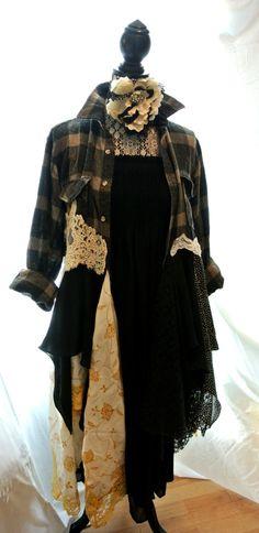 Bohemian Duster Romantic coat Steampunk piunk by TrueRebelClothing