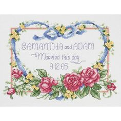 "Married This Day Counted Cross Stitch Kit-10""X8"" 14 Count"