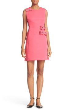 kate spade new york embellished bow faille a-line dress available at #Nordstrom