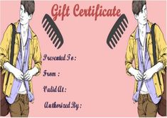 23 best salon gift certificate templates images on pinterest free
