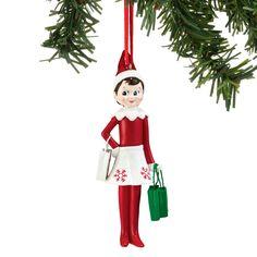 The Jolly Christmas Shop - Department 56 Elf On The Shelf Girl Shopping Christmas Ornament 4051634, $13.00 (http://www.thejollychristmasshop.com/department-56-elf-on-the-shelf-girl-shopping-christmas-ornament-4051634/)