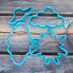 """Cookie cutters set """"Happy Birthday, sweetie !"""" 4 pcs by LubimovaCookieCutter on Etsy"""