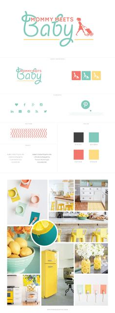 New Ideas Baby Logo Design Branding Blog Design, Logo Design Inspiration, Kids Branding, Branding Design, Marca Personal, Baby Blog, Boy Decor, Brand Style Guide, Kids Logo