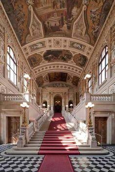 Staircase, Hofburg Palace, Vienna, Austria