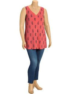 Women's Plus Sleeveless Tunics | Old Navy
