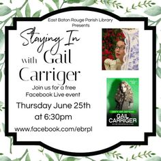 30 Days of Queer Reads for #ReadingPride - Gail Carriger Etiquette And Espionage, Queer Books, Gail Carriger, Becky Albertalli, Long Books, Free Facebook, Cozy Mysteries, Book Signing, Live Events