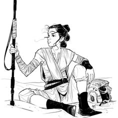 Rey from The Force Awakens by Cameron Stewart