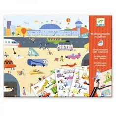 Djeco Kreativset Abziehbilder Rubbelbilder Fahrzeuge - Bonuspunkte sammeln, auf Rechnung bestellen, DHL Blitzlieferung!