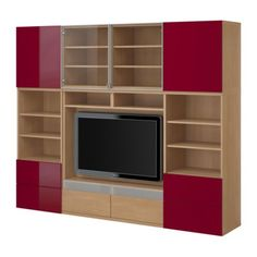 BESTÅ TV/storage combination IKEA Frames in different sizes; allows you to create a solution to suit the size of your TV.