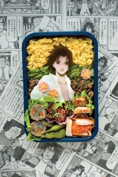 Japanese Charaben (キャラ弁), the art of making bento boxes that resemble cartoon characters with rice, nori and other staples
