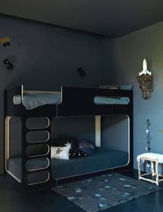 Shared Bedrooms | Handmade Charlotte. I like the clean beds but whole room is too dark