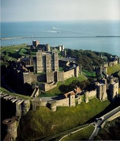 Dover Castle...a fortress castle. On a very clear day, you can see France.