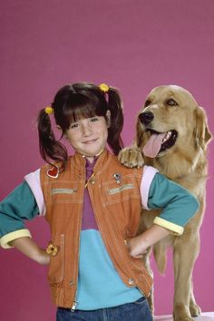 Soleil Moon Frye and Sandy in Punky Brewster Soleil Moon Frye, Punky Brewster, The Emmys, 80s Kids, Oldies But Goodies, Family Dogs, Movie Tv, Nice Dresses, Fun Facts